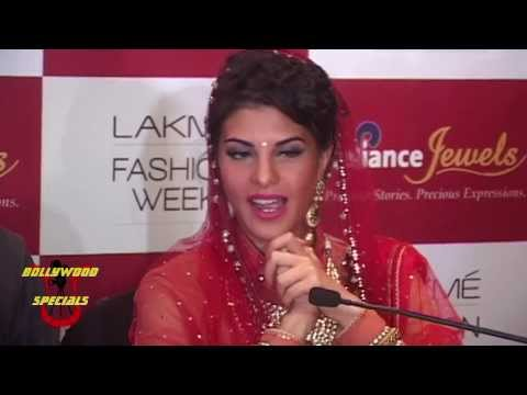 Jacqueline Fernandez as showstopper for Tarun  Tahiliani at LFW Summer Resort 2014  Day 2