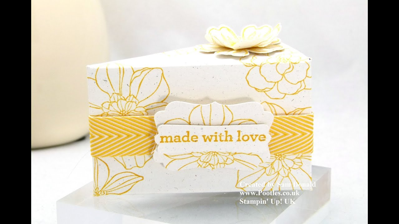 Stampin Up Gift Box Template Stampin Up Cake Slice Box Boxes