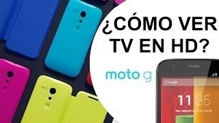 Motorola Moto G ¿Cómo Ver La TV Sin Conexión A