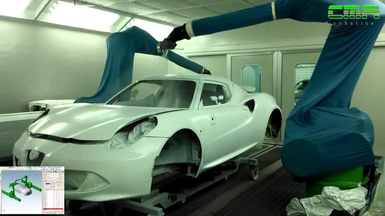CMA Robotics Spa Automotive painting YouTube