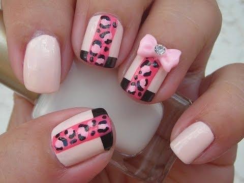Nail Art - Pink Leopard