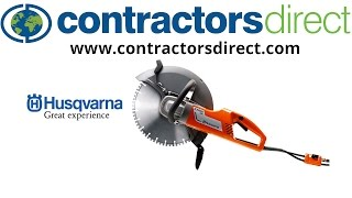 "Husqvarna K3000 14"" Wet Electric Concrete Saw How To"