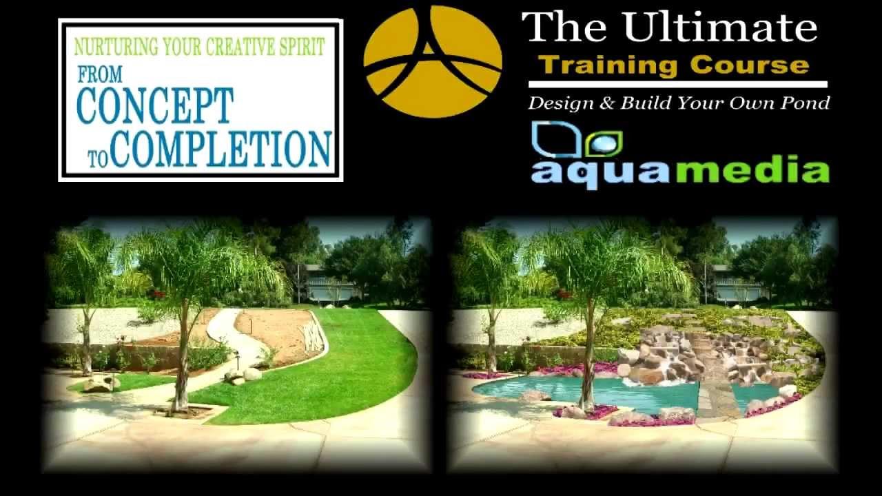 Digitally design ponds waterfalls water garden design for Design a pond software