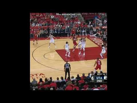 NBA-Ricky Rubio Funny Defense on James Harden