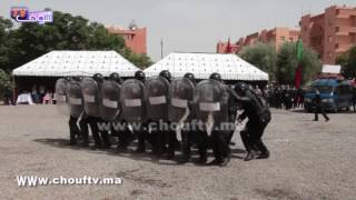 النشيد الوطني في قلب ولاية أمن مراكش بمناسبة احتفالات الأسرة الأمنية | خارج البلاطو