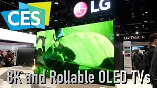 LG 88 inch 8K and Rollable OLED TVs, plus C9, E9, W9 Models at CES 2019
