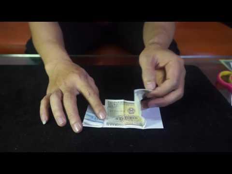 Hướng dẫn ảo thuật biến giấy thành tiền cực hay