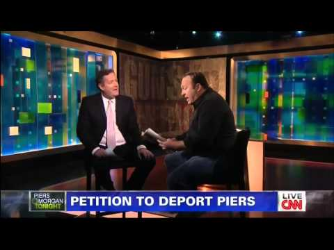 Alex Jones Vs Piers Morgan On Gun Control Live On CNN
