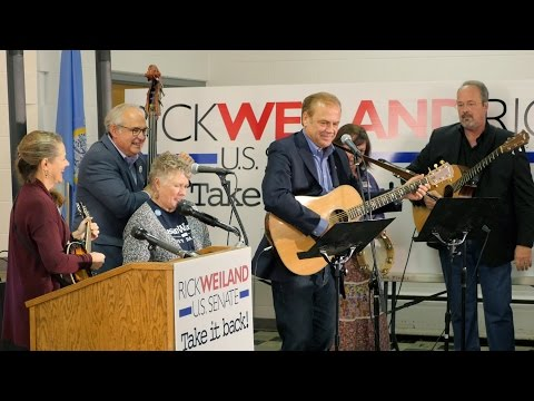 Democrat Rick Weiland sings his campaign message
