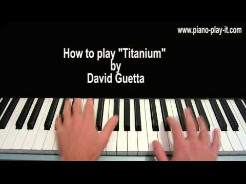 Titanium David Guetta Piano Tutorial