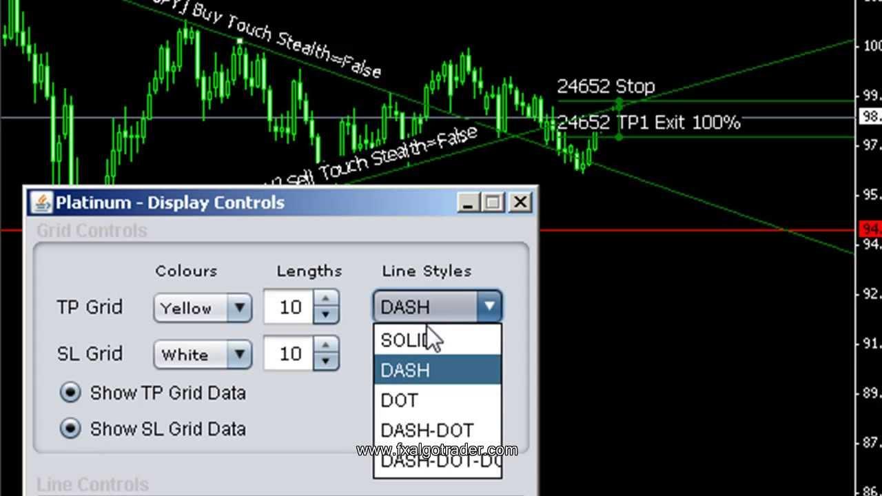 Trading system using java