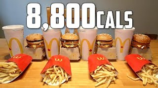 Impossible McDonald's Big Mac Meal Challenge (8,800 Calories)