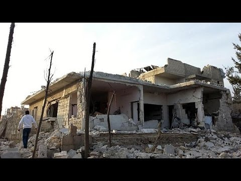 Syria government accused of deadly barrel bomb airstrike on Aleppo market