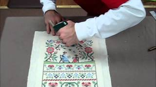 How To Frame A Cross Stitch Demo Of Needlework Framing