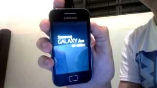 Celular Sansumg Galaxy Ace Travando Na Tela Incial ( Como