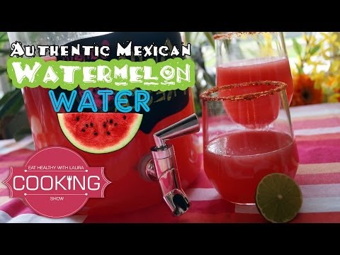 Watermelon Water Agua Fresca ♥ Eat Healthy with Laura