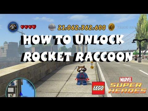 Lego Marvel Super Heroes Rocket Raccoon How to unlock rocket raccoon