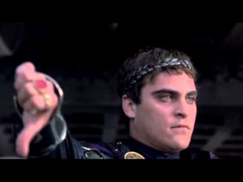 Commodus Gives a Thumbs Down