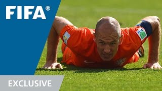 Arjen Robben watches Brazil 2014