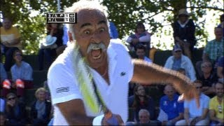 Exclusive tennis match: Noah & Bahrami vs McEnroe & Leconte