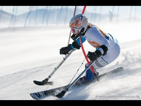 Slalom - second run - 2013 IPC Alpine Skiing World Cup