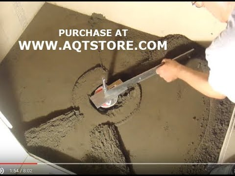 shower floor mud forming device video 1 youtube. Black Bedroom Furniture Sets. Home Design Ideas