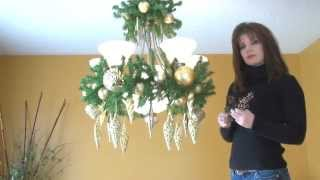 Video: How To Decorate A Chandelier / Light Fixture For