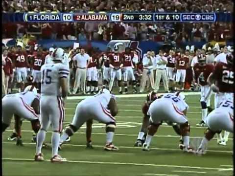 #1 Florida Gators vs #2 Alabama Crimson Tide 2009 SEC Championship