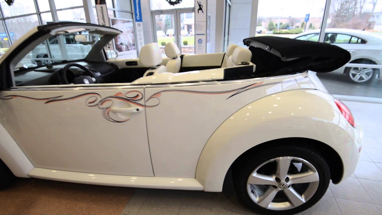 2007 Volkswagen New Beetle Convertible Triple White Stk