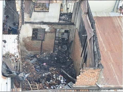 Cháy căn nhà 3 tầng, cả khu phố hoảng loạn