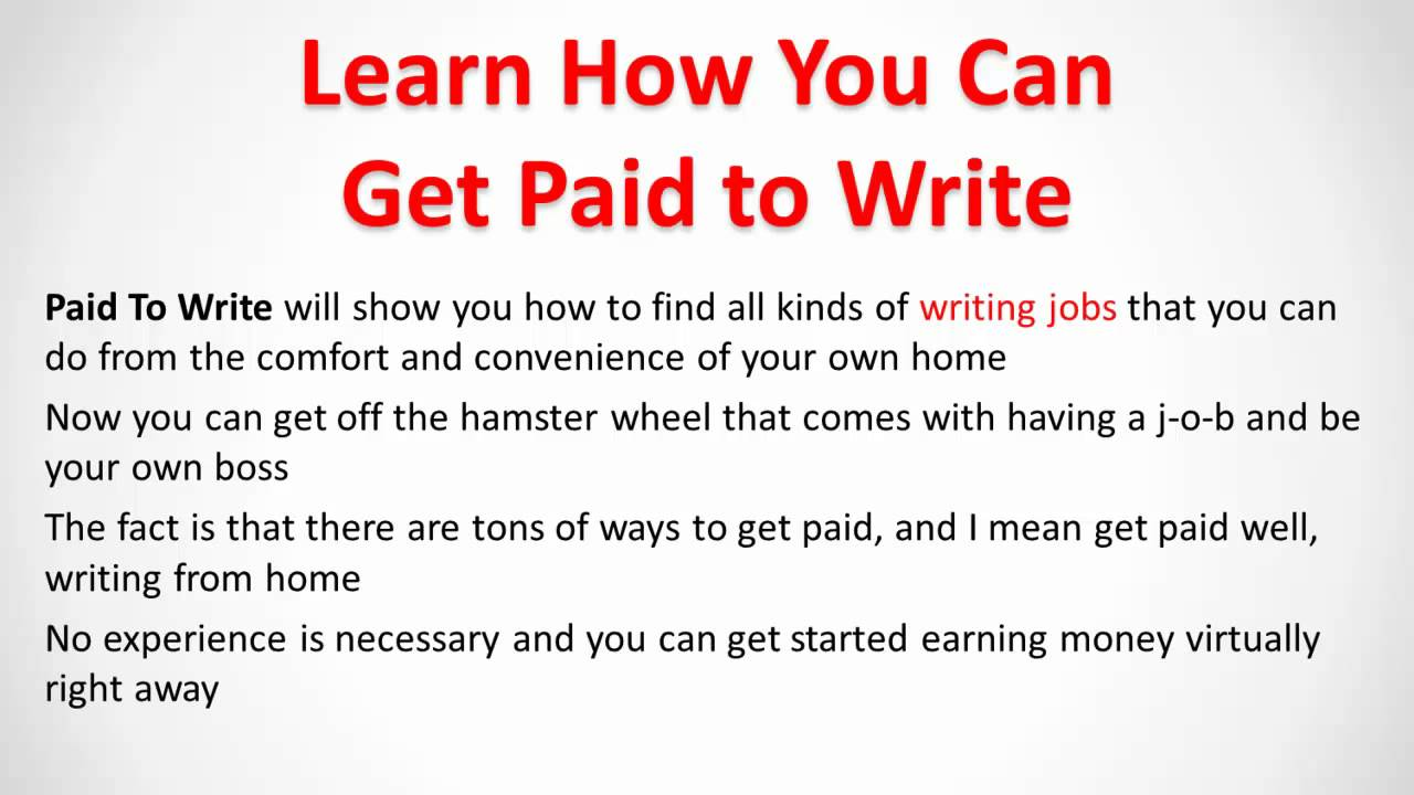 Paid to write essay