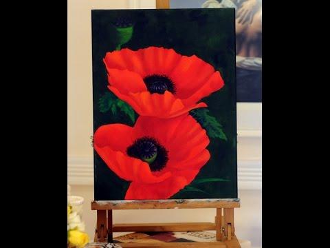 Como Pintar Flores con Oleos - Pintura sobre Caballete