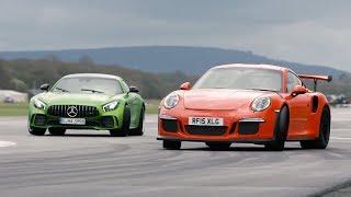 Merc-AMG GT R vs 911 GT3 RS vs BMW M4 GTS - Chris Harris Drives - Top Gear. Watch online.