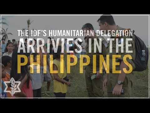 IDF Humanitarian Delegation Arrives in the Philippines