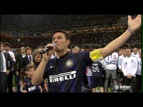 L'emozionante addio al calcio del CAPITANO Javier Zanetti | 10/05/2014
