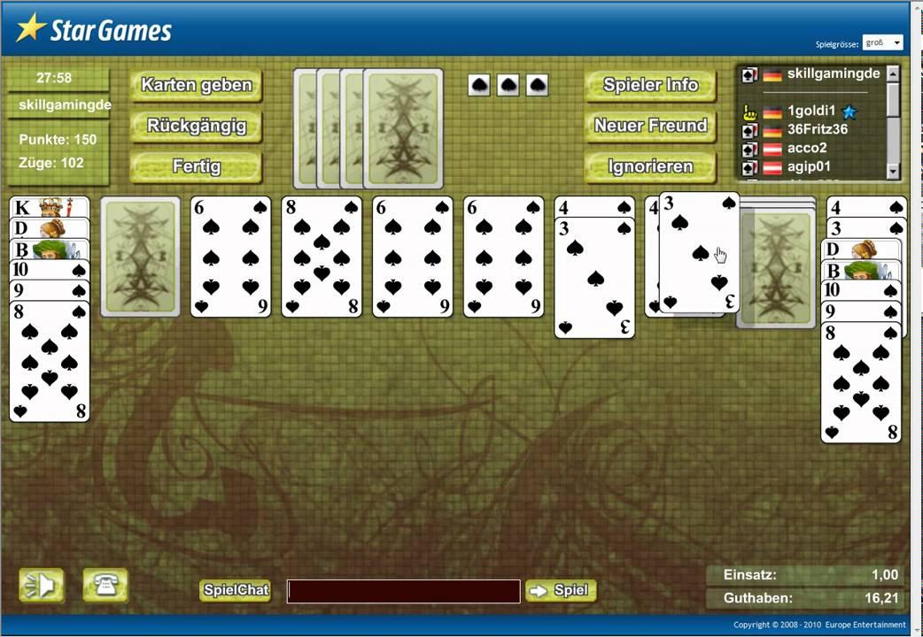 spider solitaire spielen