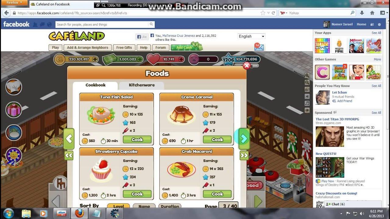 Cafeland Hack Cash 201...