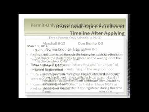 2014-2015 PUSD Open Enrollment Presentation