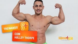 Treino de bíceps com Halley Thorpe