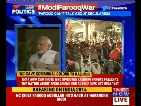 Verbal war between Narendra Modi and Farooq Abdullah
