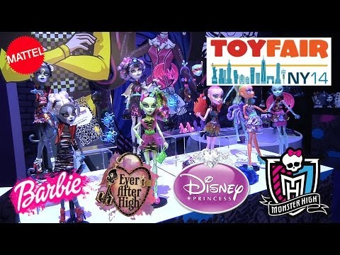 New MONSTER HIGH, Barbie, Ever After High & Disney PRINCESS FROZEN at NY TOY FAIR 2014!