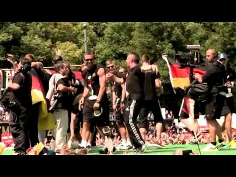 Germany football team celebrates World Cup victory on streets