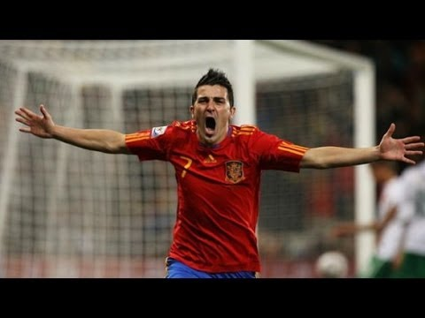 Spain vs El Salvador 2 - 0 David Villa Goal 2014