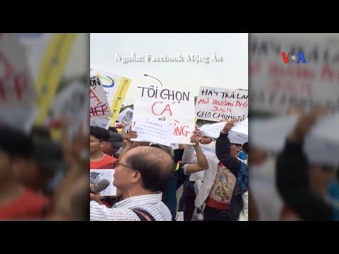 Người Việt ở Đài Loan biểu tình vụ cá chết