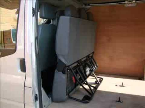 Folding Seat Fitted In Van Youtube