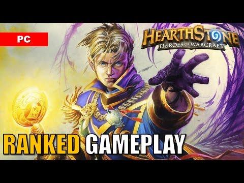 HEARTHSTONE Gameplay PC Ranked Standard Deck: Priest vs Warlock - January 2017