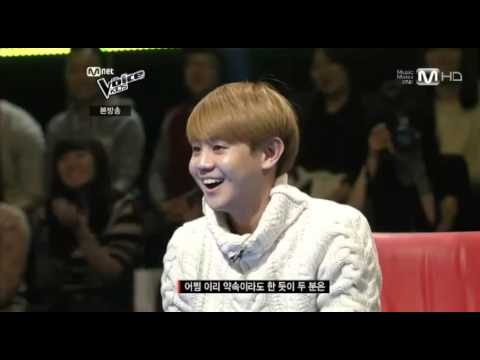 130118 Voice Kids - Yoseop sang and made heart sign