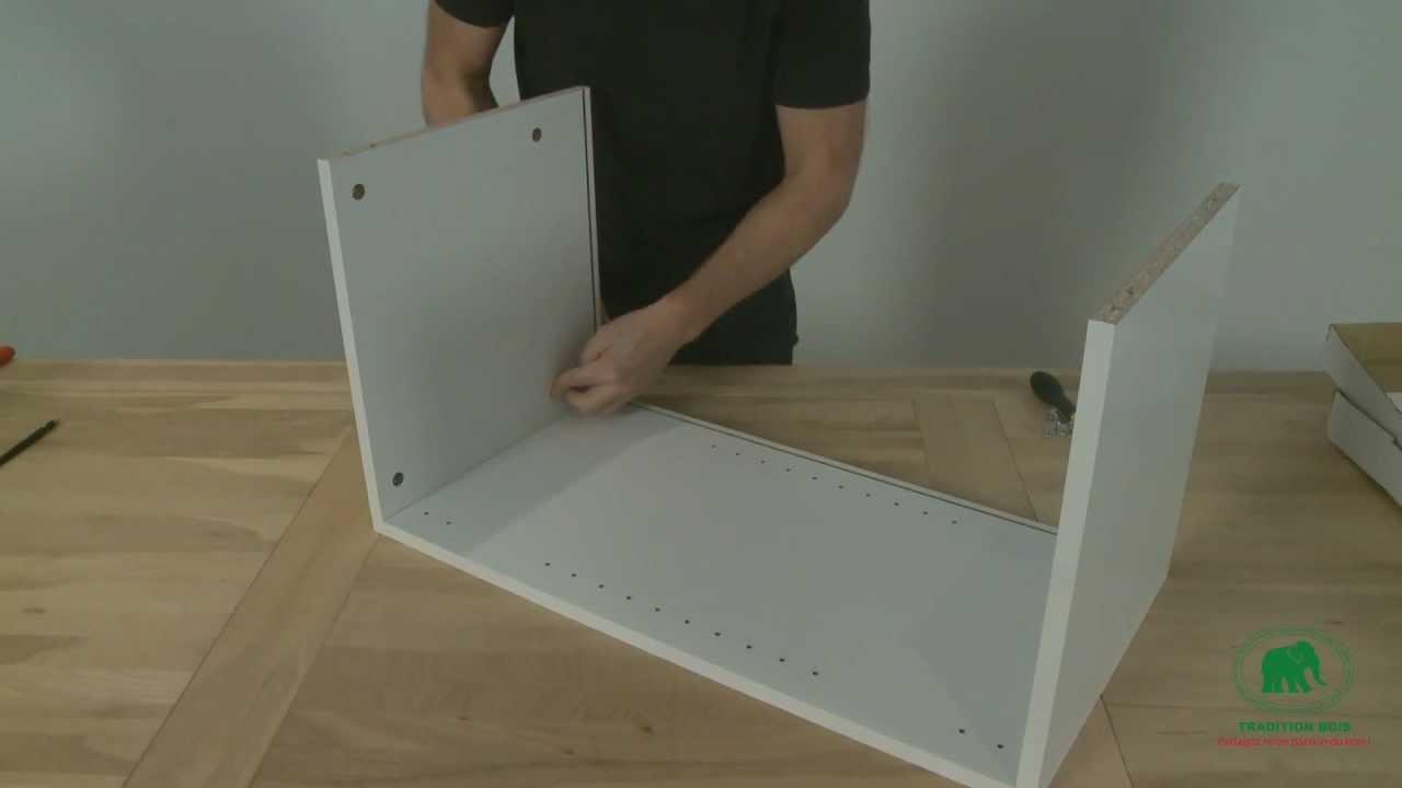 monter un caisson haut youtube. Black Bedroom Furniture Sets. Home Design Ideas