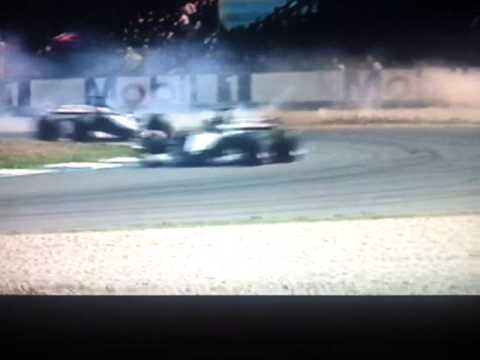 Murray Walker commentating on Michael Schumacher's accident