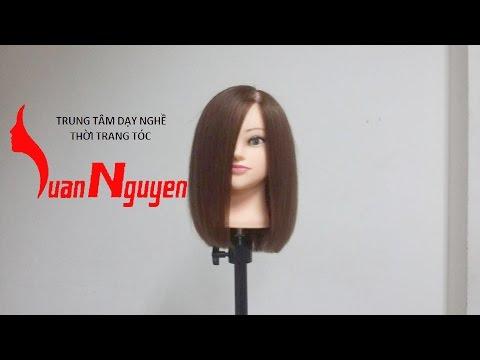 Hướng dẫn cắt tóc ngang vai Hàn Quốc ( Bai 6 ) LUANNGUYEN